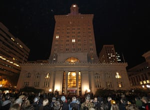 Occcupy Oakland: Protesters gather in front of Oakland City Hall
