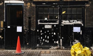 A house in Mayfair occupied by squatters