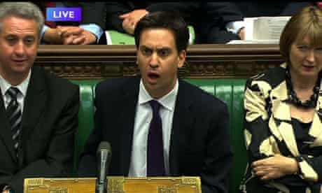 Ed Miliband at PMQs in JUly.