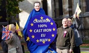 Ukip demonstrators outside parliament during the EU referendum this week