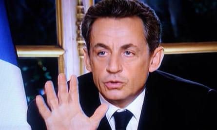 French president Sarkozy television address