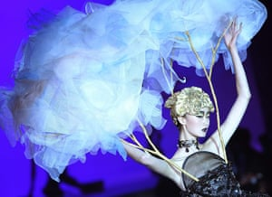 24 Hours: Beijing, China: A model on the catwalk at China Fashion Week