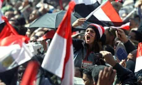 Protest in Tahrir Square.