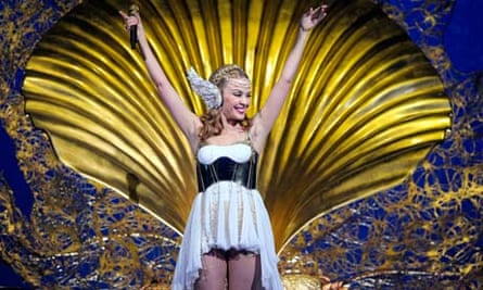 Kylie Minogue performs in Melbourne