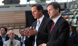 Cameron and Clegg disagree over rebalancing of powers with