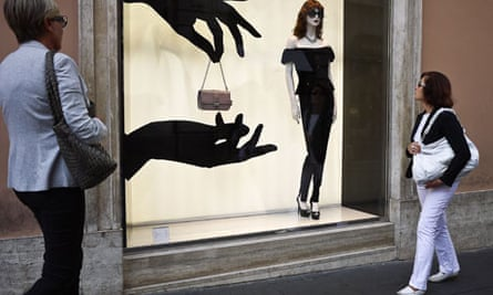 The Dior shop in the centre of Rome.