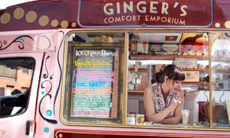 Claire Kelsey with her ice-cream van