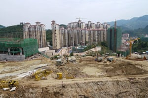 Guiyang urbanisation: A building site on the outskirts of Guiyang, capital of Guizhou province