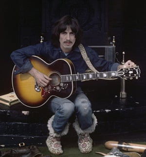 George Harrison book: George Harrison, during the filming of Let It Be, 1969