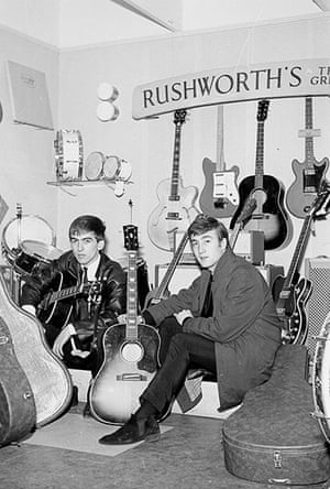 George Harrison Book: George Harrison and John Lennon at Rushworth's, 1962