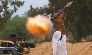 Anti-Gaddafi fighter