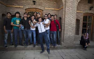 FTA: Ahmad Masood: A group of Afghan youths pose for photos during Sound Central