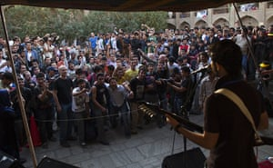 FTA: Ahmad Masood: An Afghan rock musician performs in front of a cheering crowd