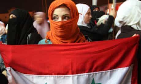 Protester in Amman