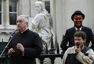 Occupy London protests: The Right Reverend Graeme Knowles speaks to demonstrators