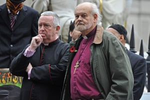 Occupy London protests: Graeme Knowles and Dr Richard Chartres, outside St Paul's
