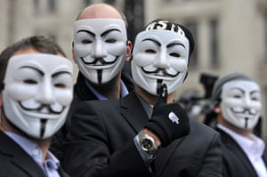 Occupy London protests: Protesters wearing masks at the Occupy London protests