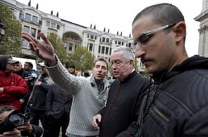 Occupy London protests: Graham Knowles arrives to join open debate outside St Paul's Cathedral