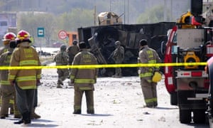 Taliban Suicide Attack on Bus Carrying ISAF Members, Kabul, Afghanistan - 29 Oct 2011