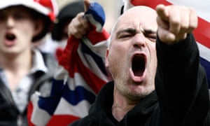 An English Defence League rally in Bradford