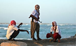 Armed Somalian pirate.