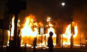 Protesters Riot In Tottenham
