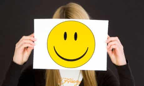 girl with laughing smiley face
