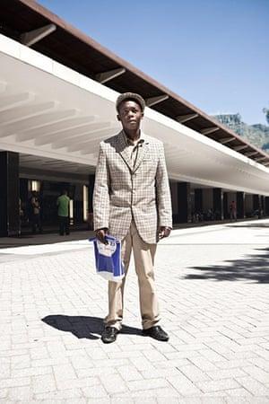 South African fashion: South African fashion Xhosa boy in big suit
