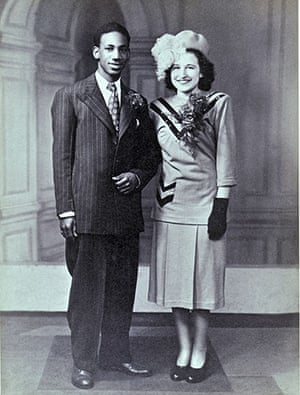 Mixed Britannia: Ake from Trinidad and Mary Jacobs on their wedding day in April 1948