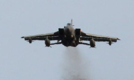 RAF Tornados fly above the Lossiemouth air base