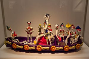 Grayson Perry: Figurine, Mexico, Metepec, 1990s, pottery. British Museum