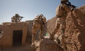 Black Watch soldiers in Afghanistan
