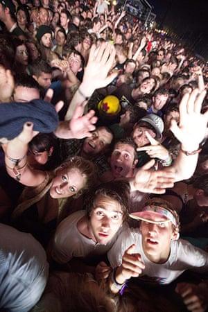 UK Festivals Exhibition: Crowd during Pendulum, Bestival, 2011