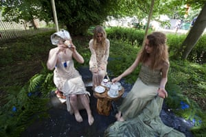 """UK Festivals Exhibition: """"An Oasis of Gold"""" Outdoor theatre at Latitide, 2011"""