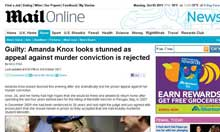 The Mail Online's declaration of Amanda Knox's guilt