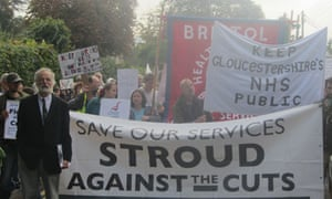 Stroud against the cuts protest march