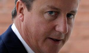 David Cameron has rewritten part of his conference speech