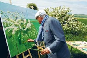 "David Hockney book: David Hockney Painting ""Woldgate Before Kilham"" 2007"
