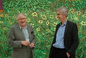 David Hockney book: David Hockney and Martin Gayford at Bridlington Studio, 20 April 2010