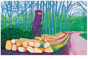 David Hockney book: Felled Trees on Woldgate 2008 oil on two canvases