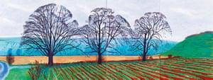 David Hockney book: Three Trees Near Thixendale, Winter 2007