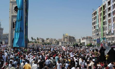 Syrians protest against President Bashar al-Assad