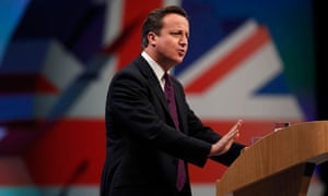 David Cameron delivers his keynote speech to the Conservative party conference
