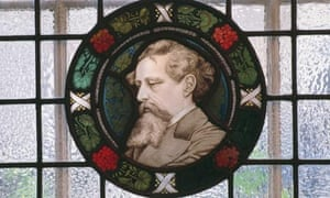 Stained glass portrait, Charles Dickens Museum