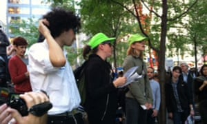 Occupy Wall Street protesters: legal observers giving rights advice