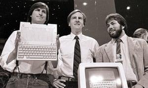 Steve Jobs, John Sculley and Steve Wozniak