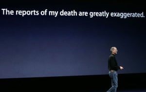 steve jobs dies: 9 September 2008: Jobs makes light of his ill health at an Apple event