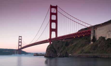 San Francisco's Golden Gate Bridge, viewed from Horseshoe Bay.