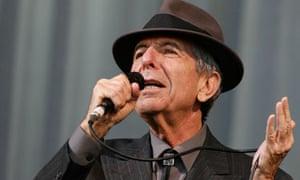 Canadian singer-songwriter Leonard Cohen performs at the Glastonbury Festival 2008 in Somerset