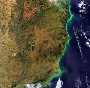 Satellite Eye on Earth: Brazilian states along the Atlantic coast